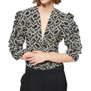 Isabel Marant printed silk blouse