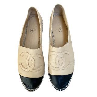 Chanel Bi-Colour Calfskin Espadrilles