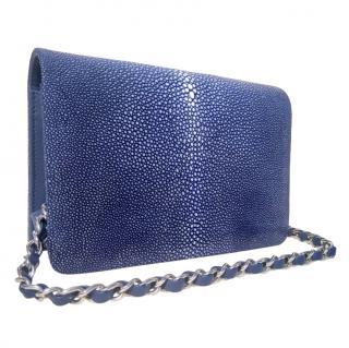 Hidetoshi Blue Stingray Crossbody Bag