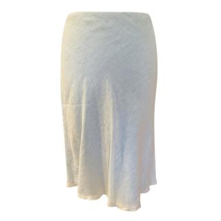 Loro Piana Mint Green Linen Skirt