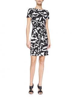 Diane Von Furstenberg Zoe Ikat Printed Shift Dress