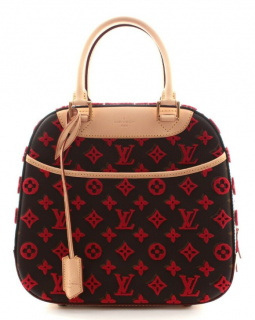 Louis Vuitton Rouge Monogram Tuffetage Deauville Cube bag