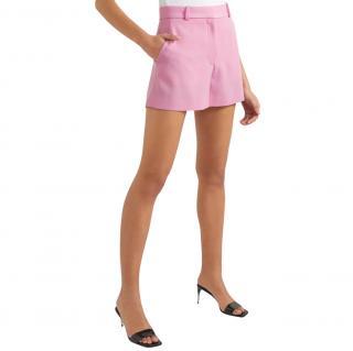 Stella McCartney Pink Wool Twill Shorts