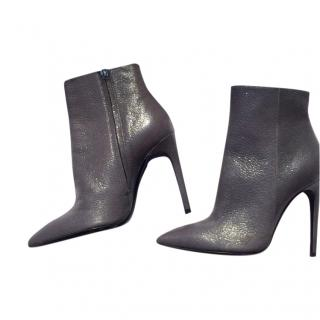 Pollinin Metallic Leather Ankle Boots