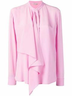 Stella McCartney Pink Draped Silk Blouse