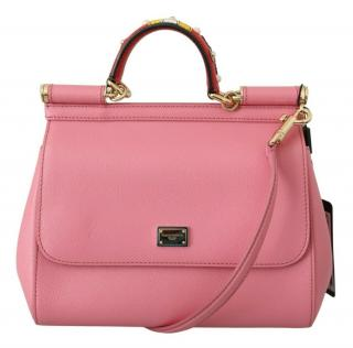 Dolce & Gabbana Pink Leather Sicily Bag