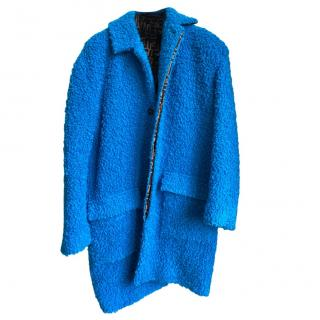 Fendi Kid's 12Y Blue Teddy Coat