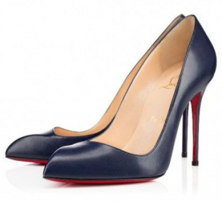 Christian Louboutin corneille Navy 100mm Pumps