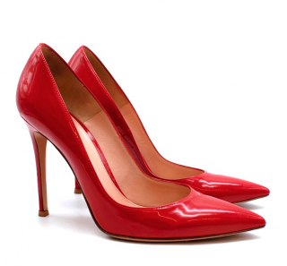 Gianvito Rossi Red Patent Leather 110mm Pumps