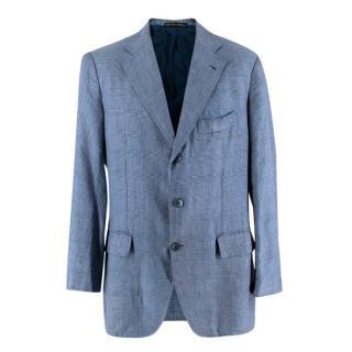 La Vera Sartoria Napoletana Navy Check Blazer Jacket