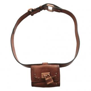 Chloe Pebbled Leather Paddington Purse Belt