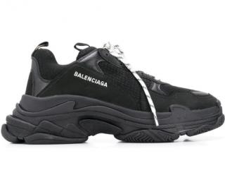 Balenciaga black Triple S Sneakers