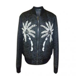 Dolce & Gabbana brocade embellished bomber jacket