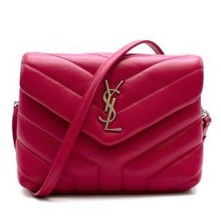 Saint Laurent Pink Toy Loulou Calfskin Leather Crossbody Bag