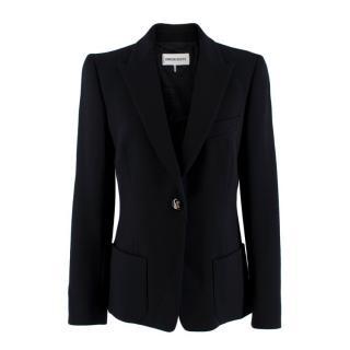 Emilio Pucci Black Wool Single-Breasted Blazer