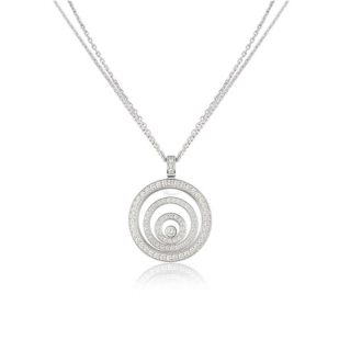 Chopard White Gold Diamond Pendant Necklace