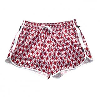 Ermenegildo Zegna Ikat print Red & White Swim Shorts