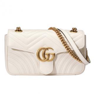 Gucci Cream Small Marmont Shoulder bag