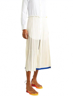 Sonia Rykiel Sheer Panelled Pleated Skirt