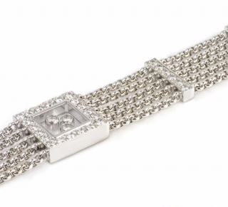 Chopard White Gold Happy Diamond Bracelet