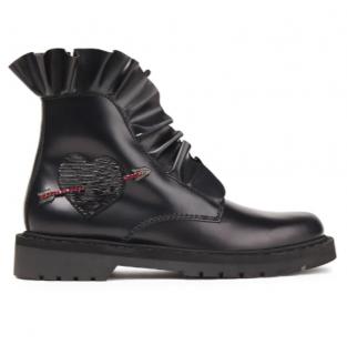 VALENTINO GARAVANI Ruffle-trimmed embellished ankle boots