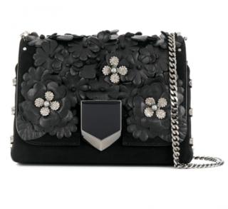 Jimmy Choo Lockett Petite floral shoulder bag