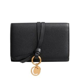 Chloe black leather Alphabet compact wallet