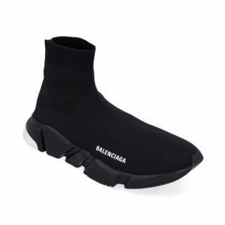 Balenciaga Black & White Speed Sock Sneakers