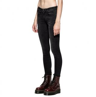 R13 Black/Grey Cotton Denim Kate Skinny Jeans