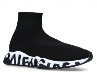Balenciaga Graffiti-Sole Speed Sneakers