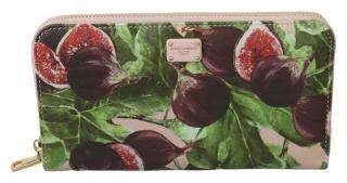 Dolce & Gabbana Aubergine Print Zip Around Wallet