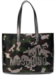 Love Moschino Camouflage Print Tote Bag