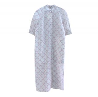 Varana Geometric Print White Long Tunic