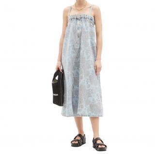 Ganni x Levi's Rose Print Upcycled Denim Dress