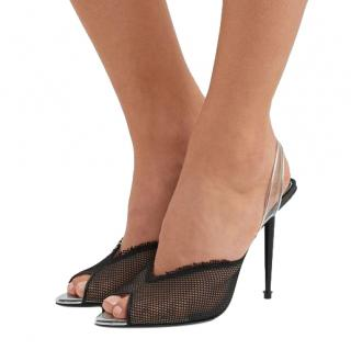 Tom Ford Mesh PVC Slingback Sandals