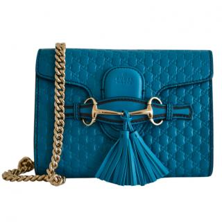 Gucci Microguccissima Blue Emily Shoulder Bag