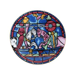 Cartier First Issue Limoges Stained Glass Chatres Cathedral Plate