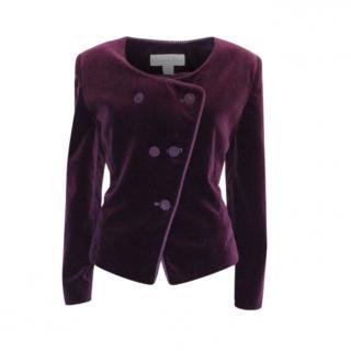Christian Dior Purple Velvet Tailored Jacket