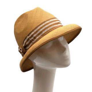 Loro Piana Grosgrain Trimmed Straw Hat