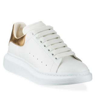 Alexander Mcqueen White & Gold Oversize Sneakers