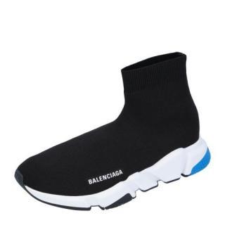 Balenciaga Black/Blue Speed Sneakers