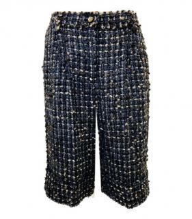 Dolce & Gabbana Tweed Mohair Blend Shorts