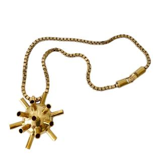 Mawi Gold Sputnik Pendant Necklace