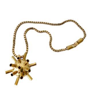 Mawi Gold Sputnik Pendant Necklace