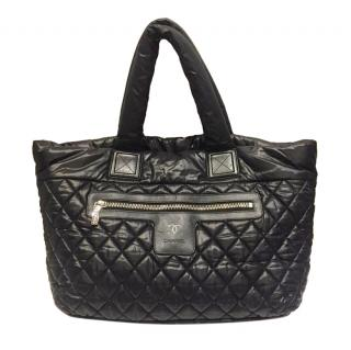 Chanel Black Quilted Nylon Cocoon Tote