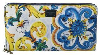 Dolce & Gabbana Majolica Print Zip Around Wallet