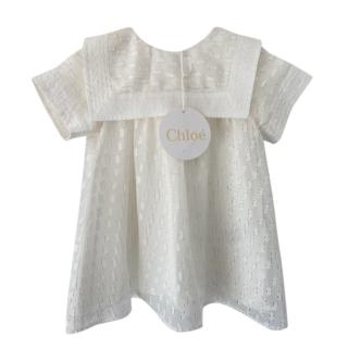 Chloe Cream Embroidered Girls 6m Dress