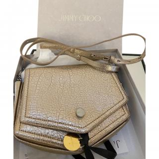 Jimmy Choo Gold Portia Crossbody Bag