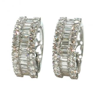 Bespoke 18ct White Gold Diamond Hoop Earrings