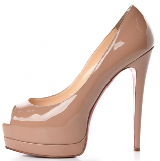 Christian Louboutin Nude Patent 140mm Pumps